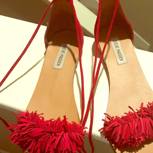 9a9d169f04b Steve Madden Shoes - Steve Madden fringe suede sandals - sweetyy style